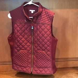 Maroon vest with gold details